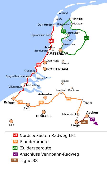 holland radtouren karte BeNeLux Radwege