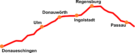 Donauradweg Ulm Passau Karte.Donau Radweg Deutschland