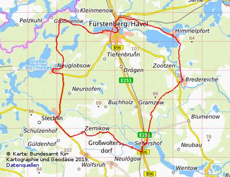 Radweg Mecklenburgische Seenplatte Karte.Tagestour Mb Seen